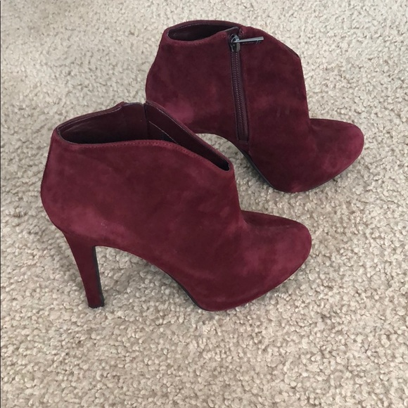 Jessica Simpson Shoes - EUC Jessica Simpson Red Suede Booties